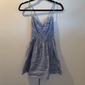 Blue Laced Back Dress